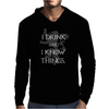 TYRION LANNISTER GAME OF THRONES DRINK AND I KNOW THINGS Mens Hoodie