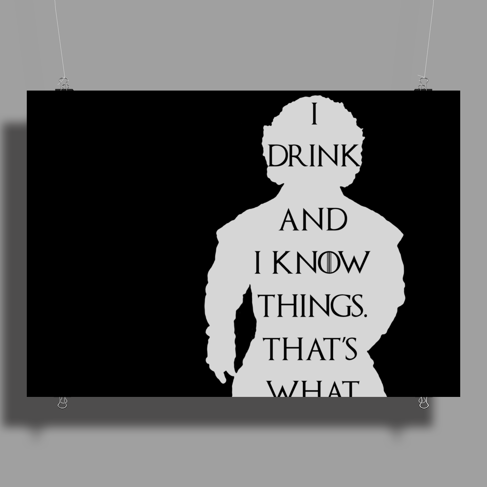 Tyrion Lannister Game of thrones I drink and I know things Poster Print (Landscape)