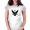 UFO Angel Heart Womens Fitted T-Shirt