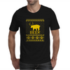 Ugly Sweater Party Beer Bear Funny Mens T-Shirt