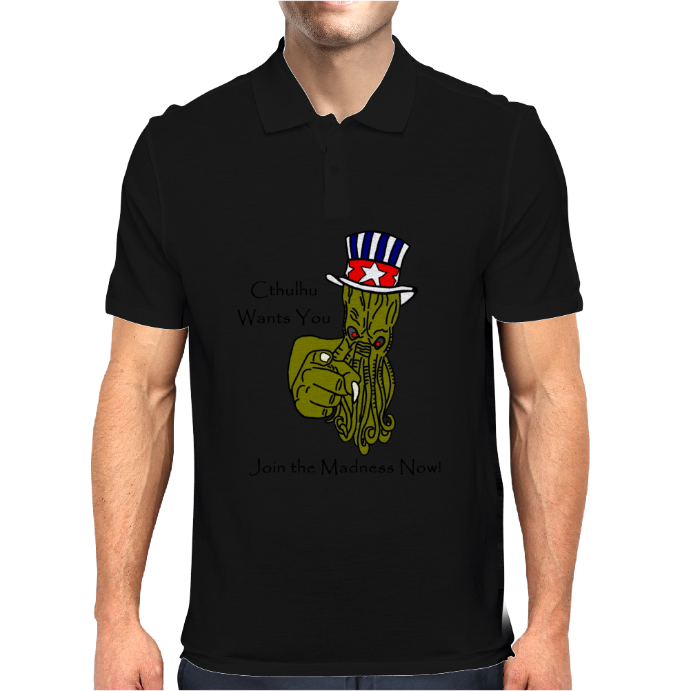 Uncle Sam Cthulhu Mens Polo