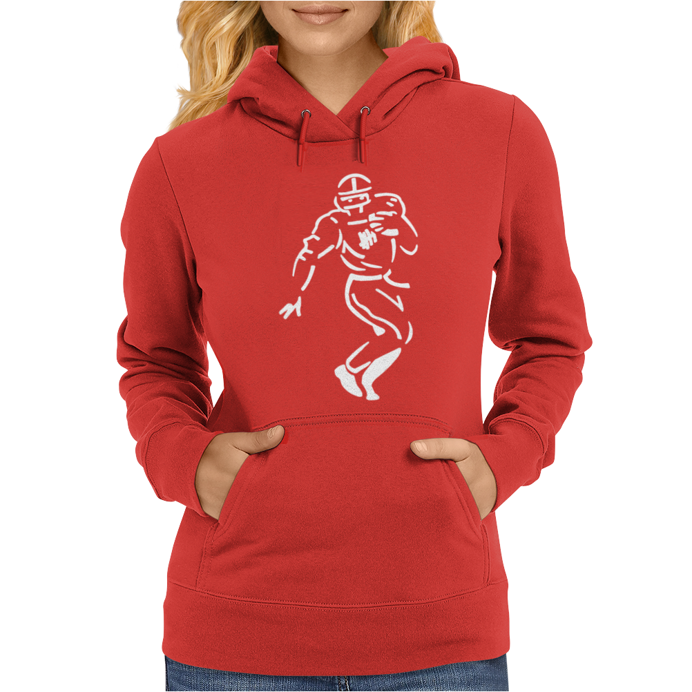 Undefeated Stencil Football Womens Hoodie