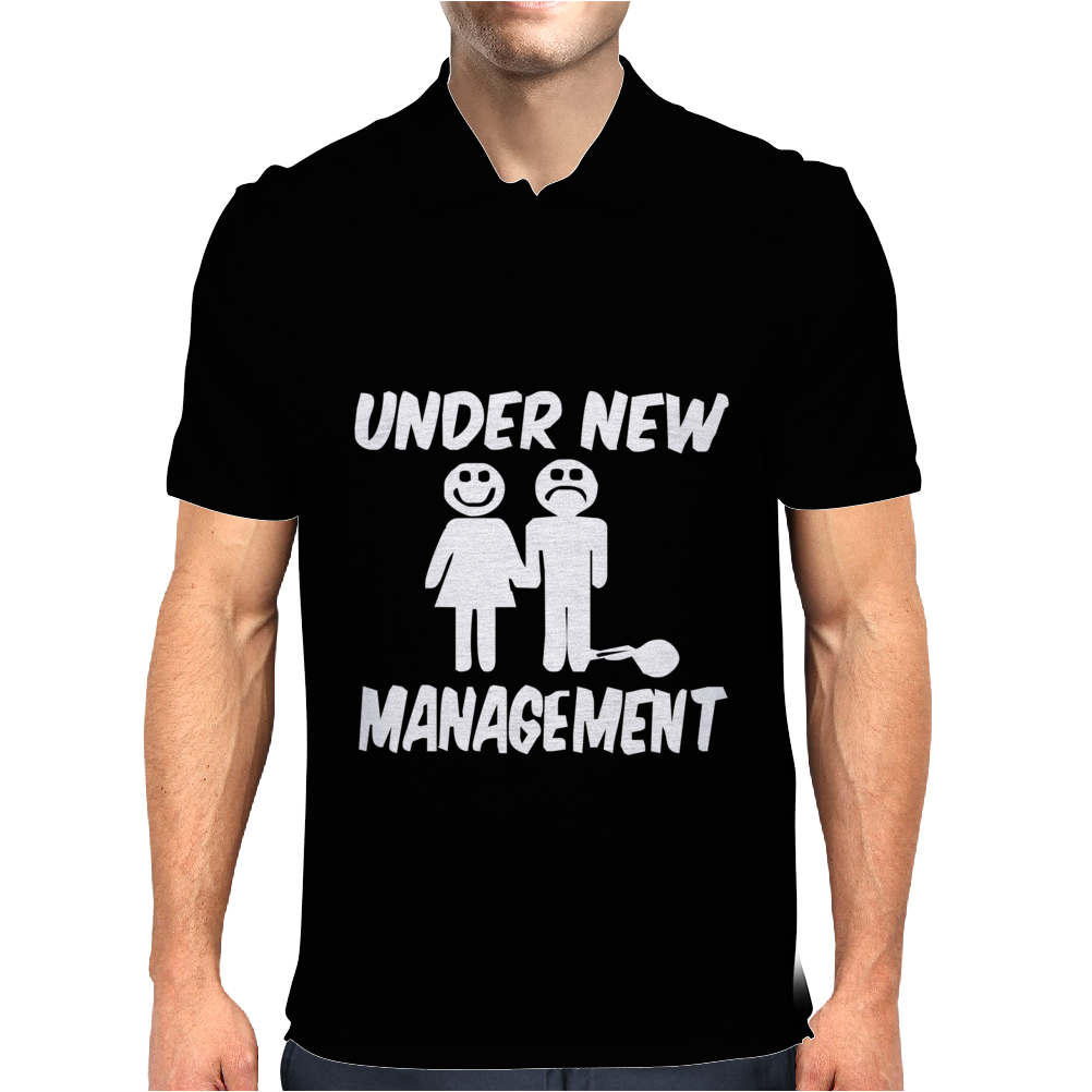 Under New Management Stag Night Wedding Mens Mens Polo