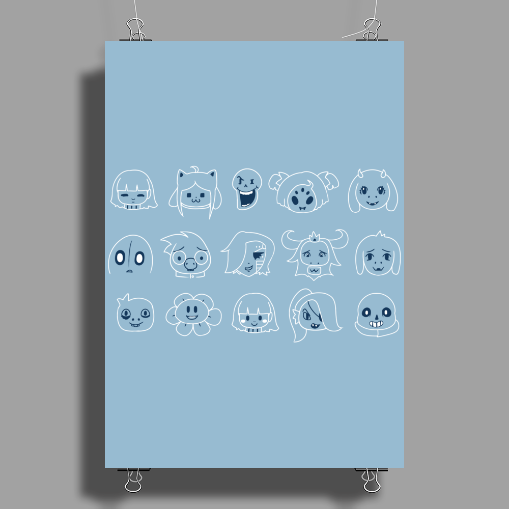 Undertale drawing Poster Print (Portrait)