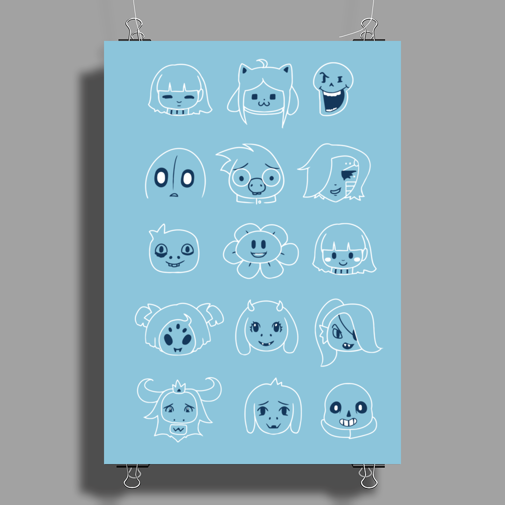 Undertale drawing v2 Poster Print (Portrait)