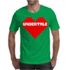 Undertale heart pixel Mens T-Shirt
