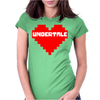 Undertale heart pixel Womens Fitted T-Shirt