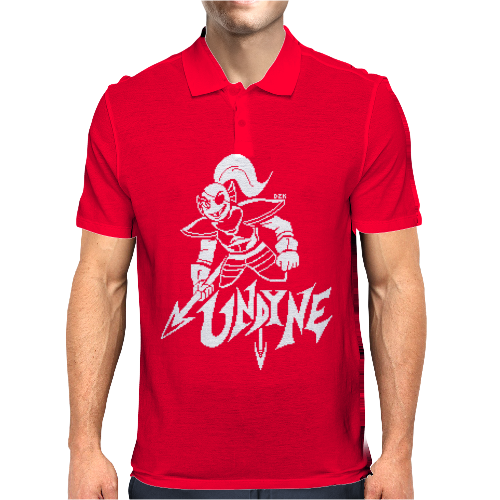 Undertale Undyne Mens Polo