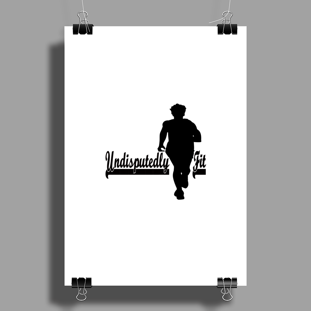 Undisputedly Fit Runner In black Poster Print (Portrait)
