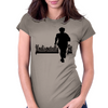 Undisputedly Fit Runner In black Womens Fitted T-Shirt