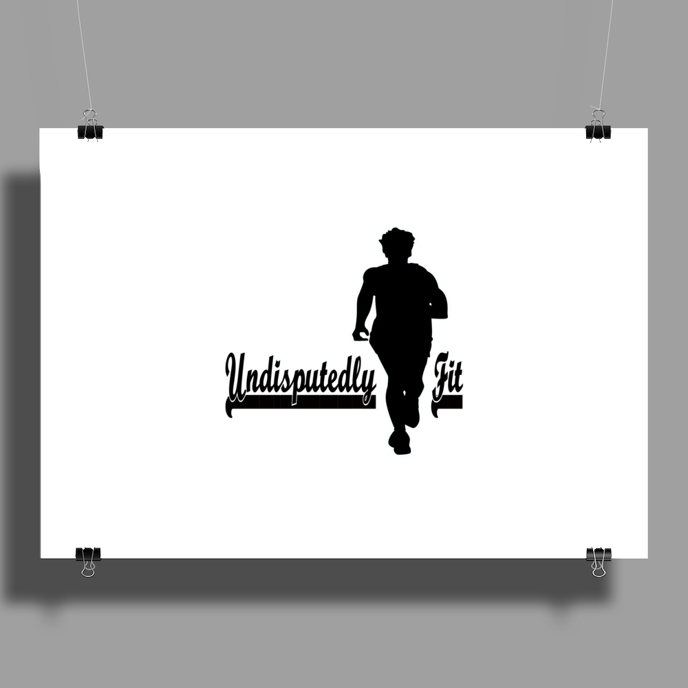 Undisputedly Fit Runner  Poster Print (Landscape)