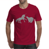 Unicorn and Grizzly Bear Fight Mens T-Shirt