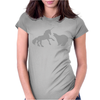 Unicorn and Grizzly Bear Fight Womens Fitted T-Shirt