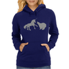 Unicorn and Grizzly Bear Fight Womens Hoodie
