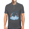 UNICORN and RAINBOW Mens Polo
