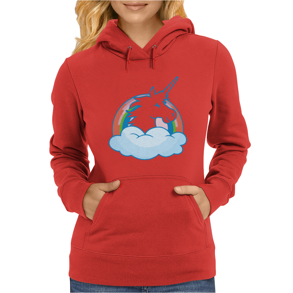UNICORN and RAINBOW Womens Hoodie