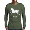 Unicorn Believe Mens Long Sleeve T-Shirt