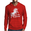 Unicorn Don't Stop Believing Mens Hoodie