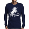 Unicorn Don't Stop Believing Mens Long Sleeve T-Shirt