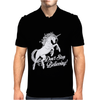 Unicorn Don't Stop Believing Mens Polo