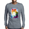 Unicorn Rainbow Cat Kitten Funny Mens Long Sleeve T-Shirt