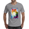 Unicorn Rainbow Cat Kitten Funny Mens T-Shirt