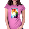 Unicorn Rainbow Cat Kitten Funny Womens Fitted T-Shirt