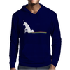 UNICORN SCOOTING ON THE FLOOR Mens Hoodie