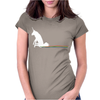 UNICORN SCOOTING ON THE FLOOR Womens Fitted T-Shirt