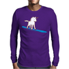 Unicorn surfing Mens Long Sleeve T-Shirt