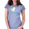 Unicorn surfing Womens Fitted T-Shirt