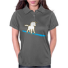 Unicorn surfing Womens Polo