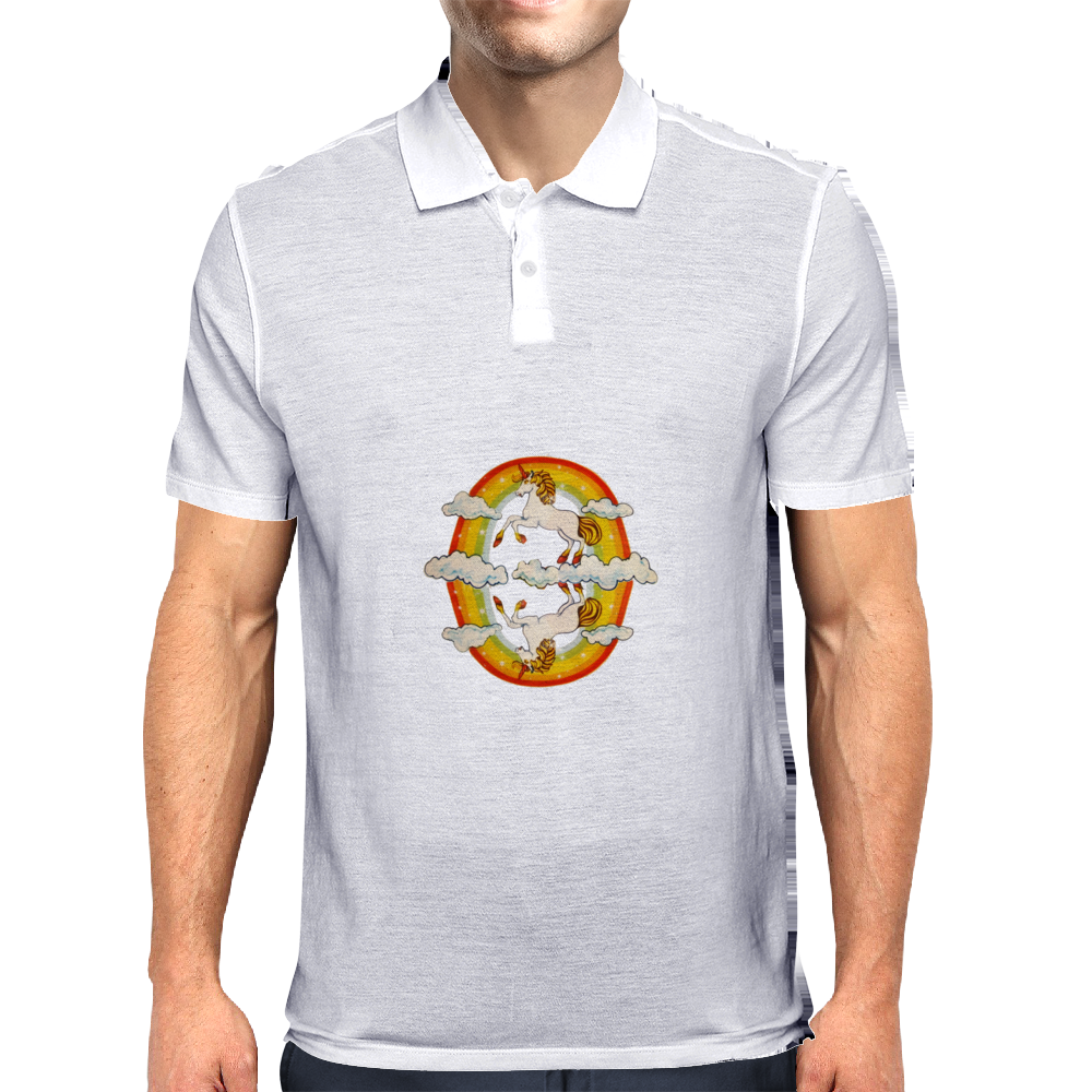 Unicorns and Rainbows Mens Polo