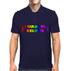 UNICORNS,I WANT TO BELIEVE,FANTASY,MYTHICAL,UNICORNS Mens Polo