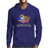 united states america stars and stripes eagle grizzly bear vintage look retro style grunge Mens Hoodie