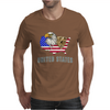 united states america stars and stripes eagle grizzly bear vintage look retro style grunge Mens T-Shirt