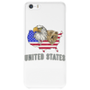 united states america stars and stripes eagle grizzly bear vintage look retro style grunge Phone Case