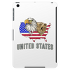 united states america stars and stripes eagle grizzly bear vintage look retro style grunge Tablet