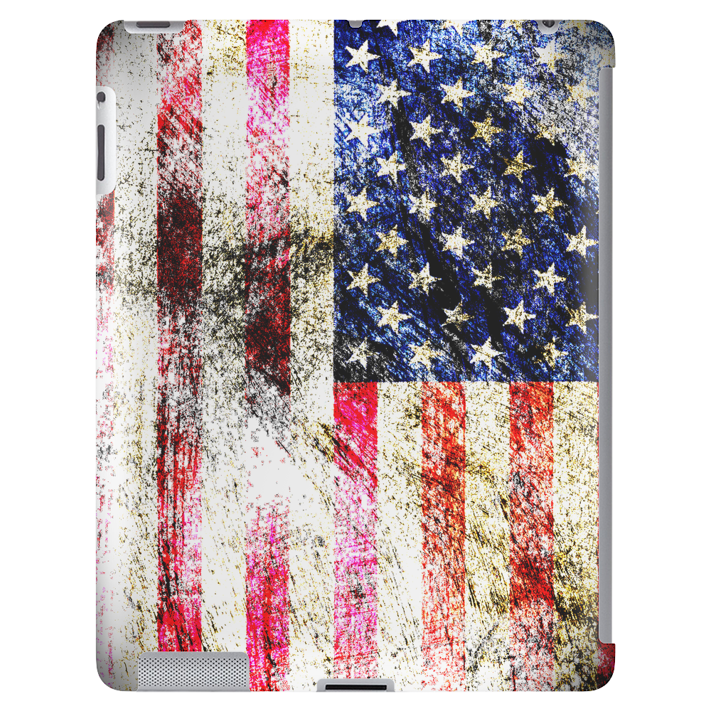 United States Flag - Distressed Tablet