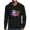 united states of america stars and stripes eagle grizzly bear Mens Hoodie