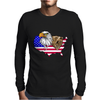 united states of america stars and stripes eagle grizzly bear Mens Long Sleeve T-Shirt