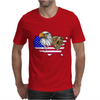 united states of america stars and stripes eagle grizzly bear Mens T-Shirt