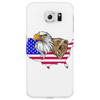 united states of america stars and stripes eagle grizzly bear Phone Case