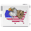 united states of america stars and stripes eagle grizzly bear Tablet