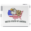 united states of america stars and stripes eagle grizzly bear vintage look retro style grunge Tablet