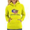 united states of america stars and stripes eagle grizzly bear vintage look retro style grunge Womens Hoodie