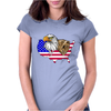 united states of america stars and stripes eagle grizzly bear Womens Fitted T-Shirt