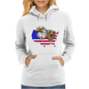 united states of america stars and stripes eagle grizzly bear Womens Hoodie