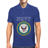 United States of America US Navy SL Blue Mens Polo