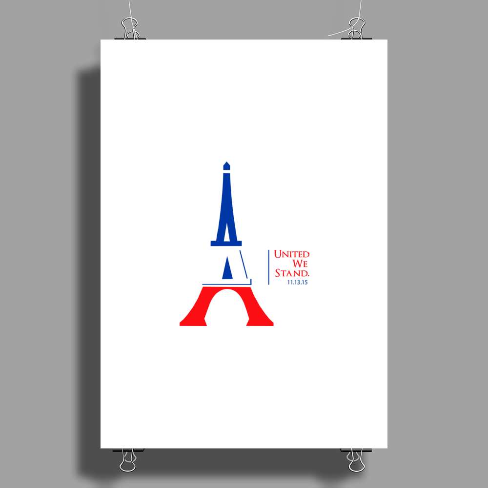United We Stand - Paris (For light colored backgrounds) Poster Print (Portrait)